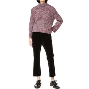 THEORY Erstina Black Velvet Crop Pants {D19}